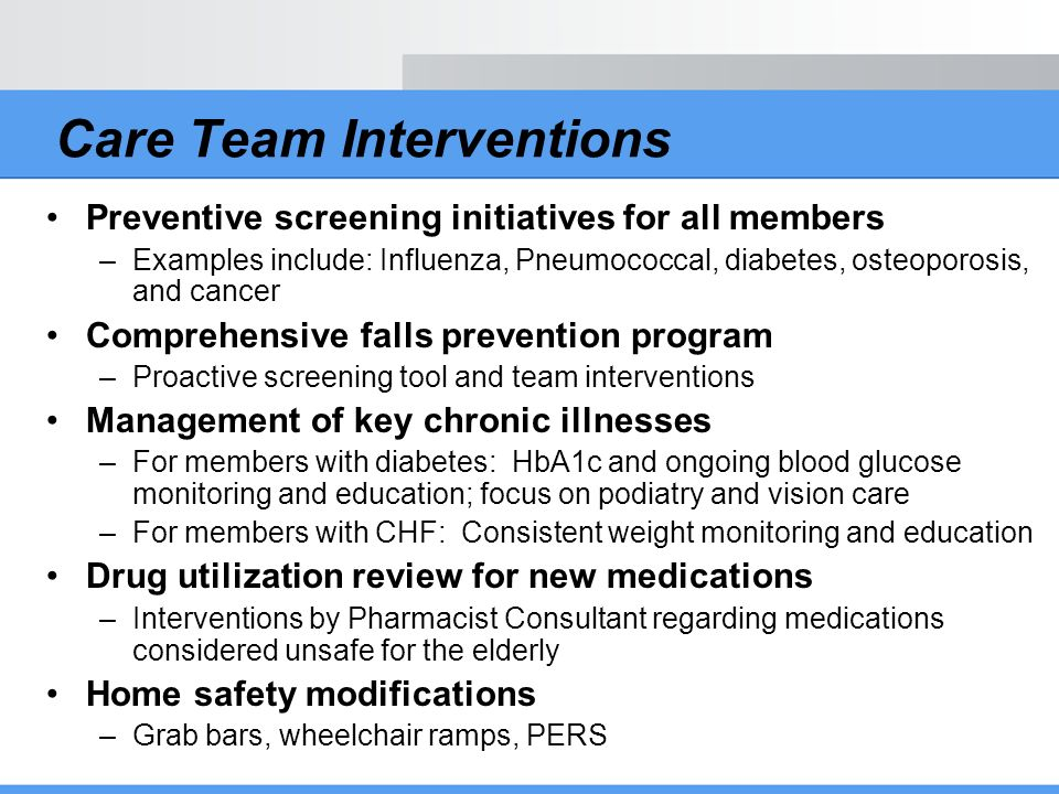 Care Team Interventions