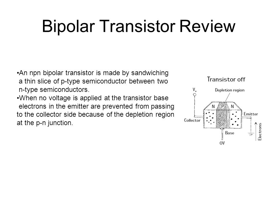 Bipolar Transistor Review - ppt video online download
