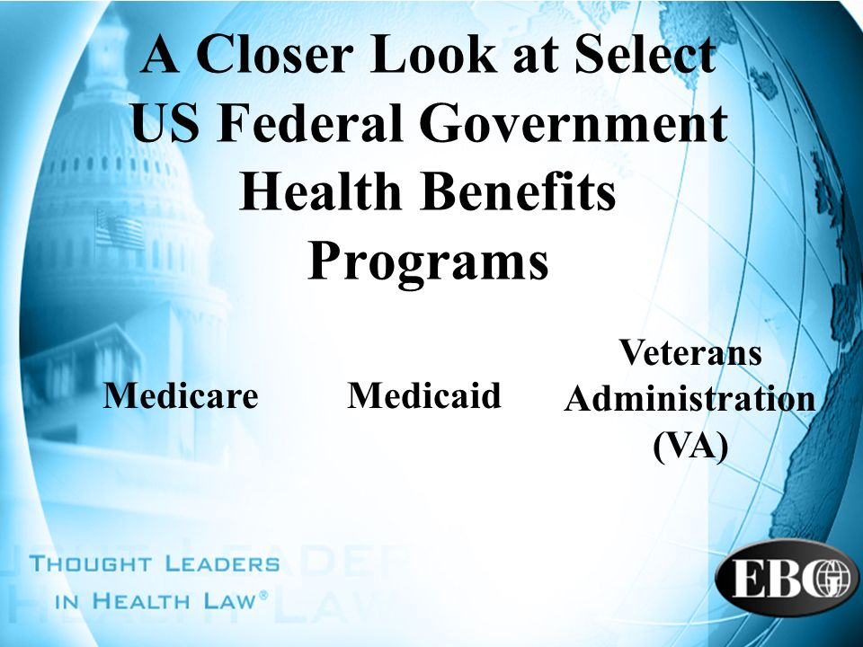 A Closer Look at Select US Federal Government Health Benefits Programs
