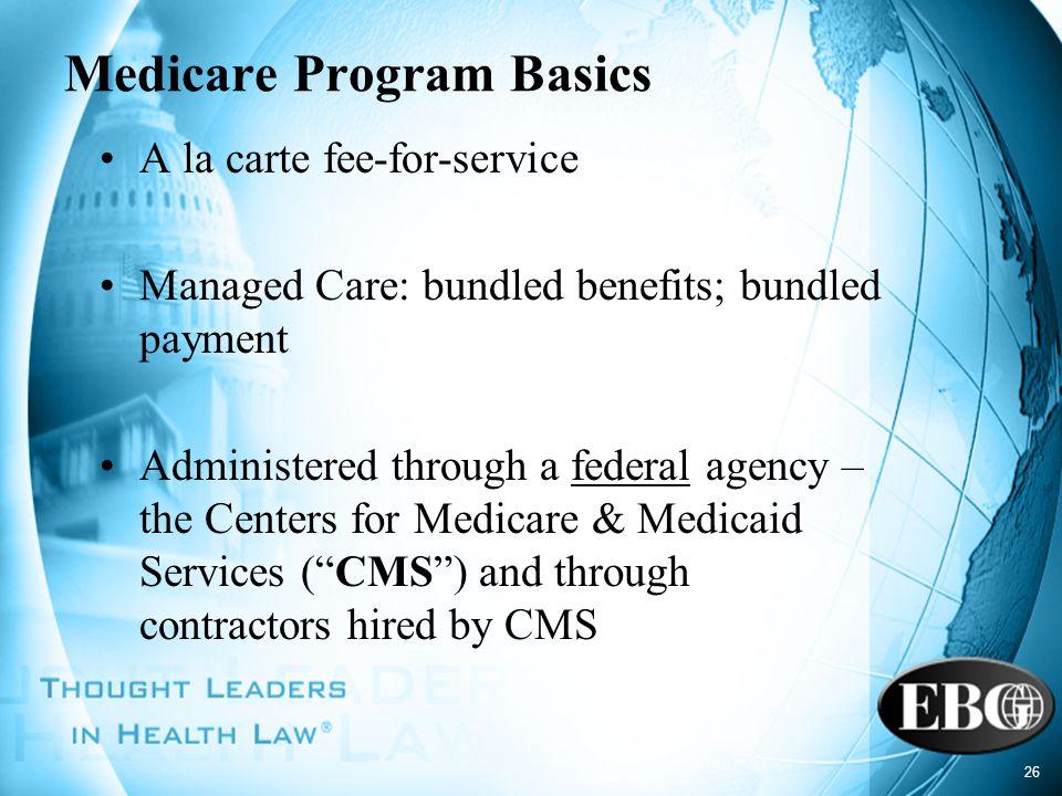 Medicare Program Basics
