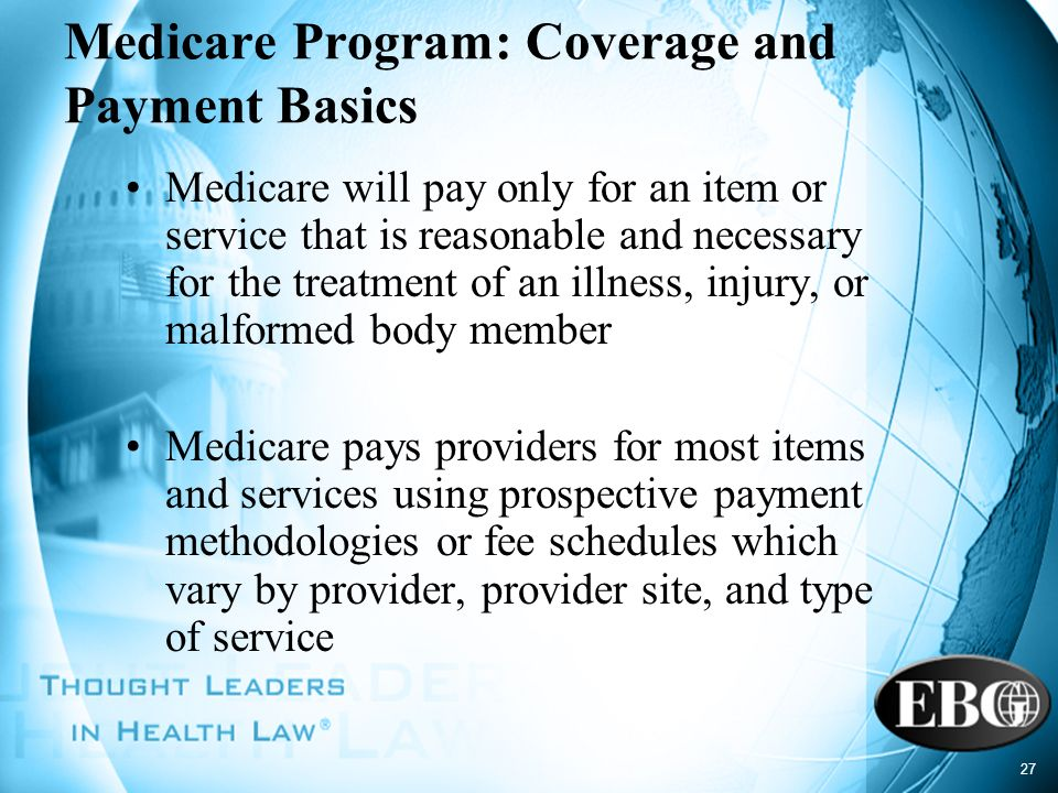 Medicare Program: Coverage and Payment Basics