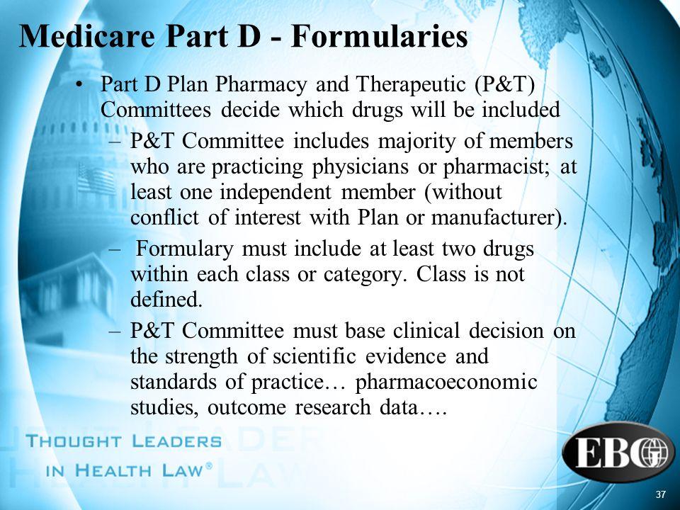 Medicare Part D - Formularies