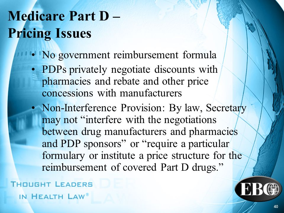 Medicare Part D – Pricing Issues