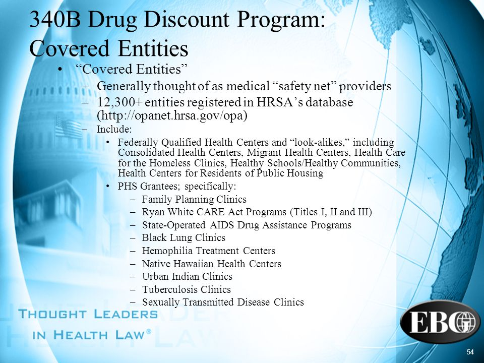 340B Drug Discount Program: Covered Entities