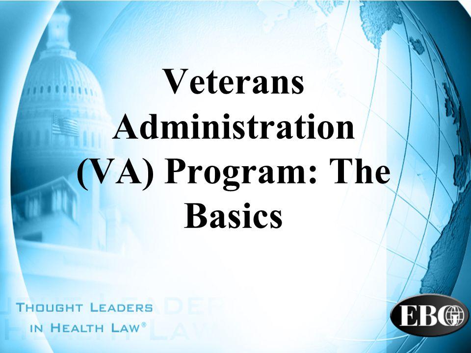 Veterans Administration (VA) Program: The Basics