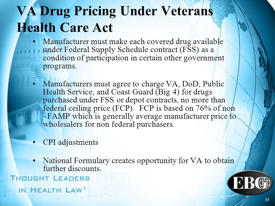 VA Drug Pricing Under Veterans Health Care Act