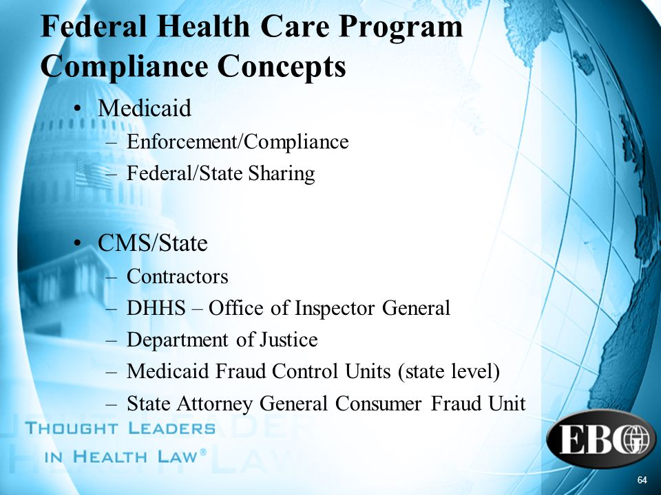 Federal Health Care Program Compliance Concepts