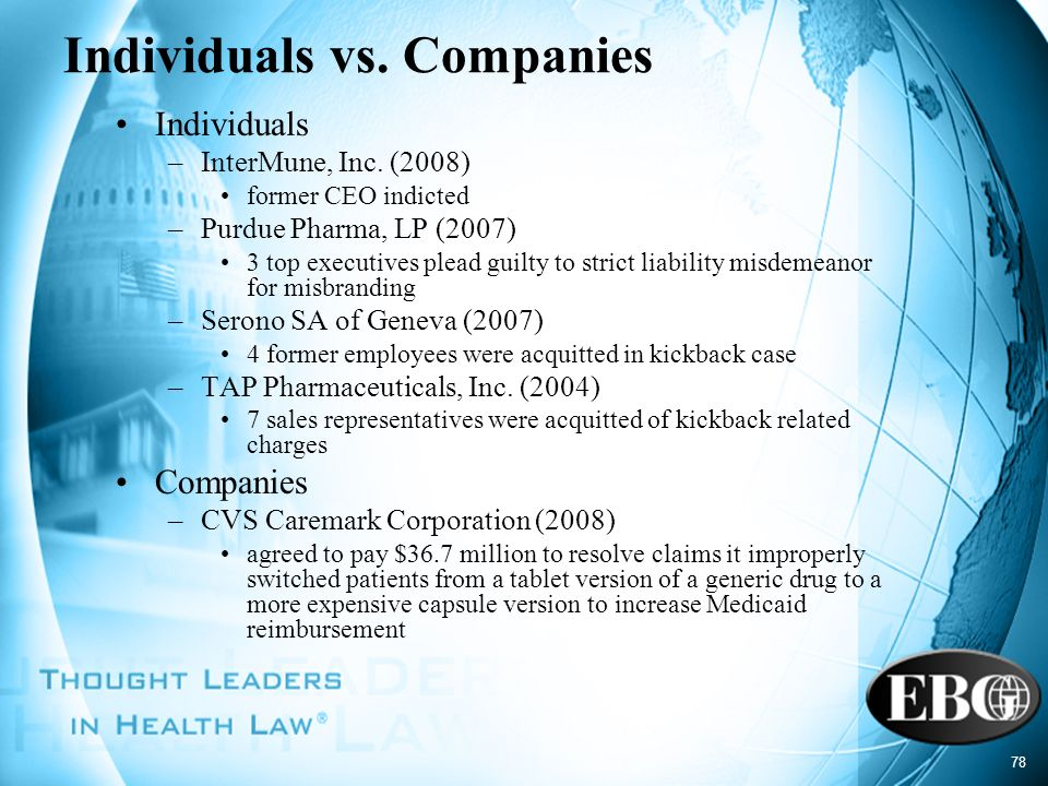 Individuals vs. Companies