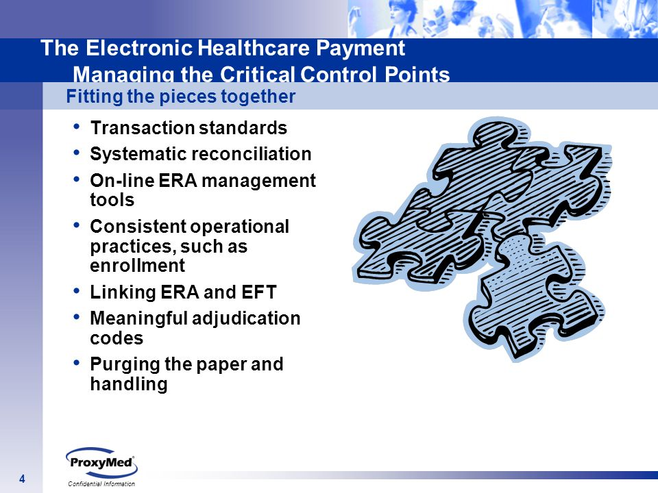 The Electronic Healthcare Payment Managing the Critical Control Points