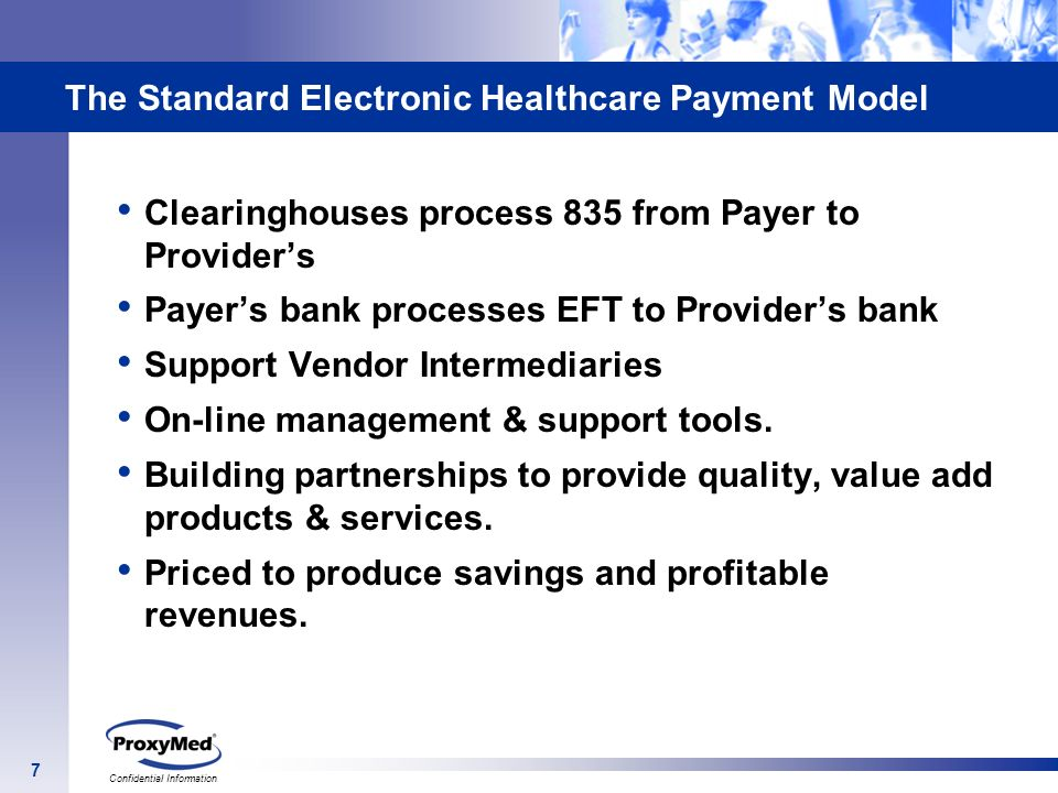 The Standard Electronic Healthcare Payment Model