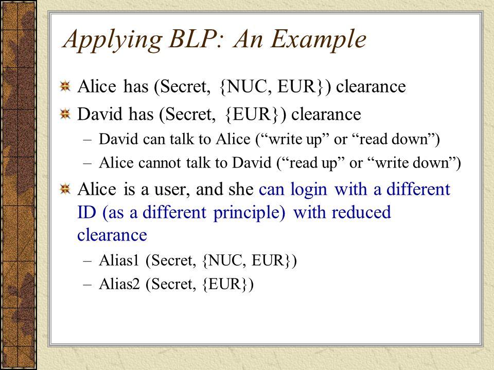 Applying BLP: An Example