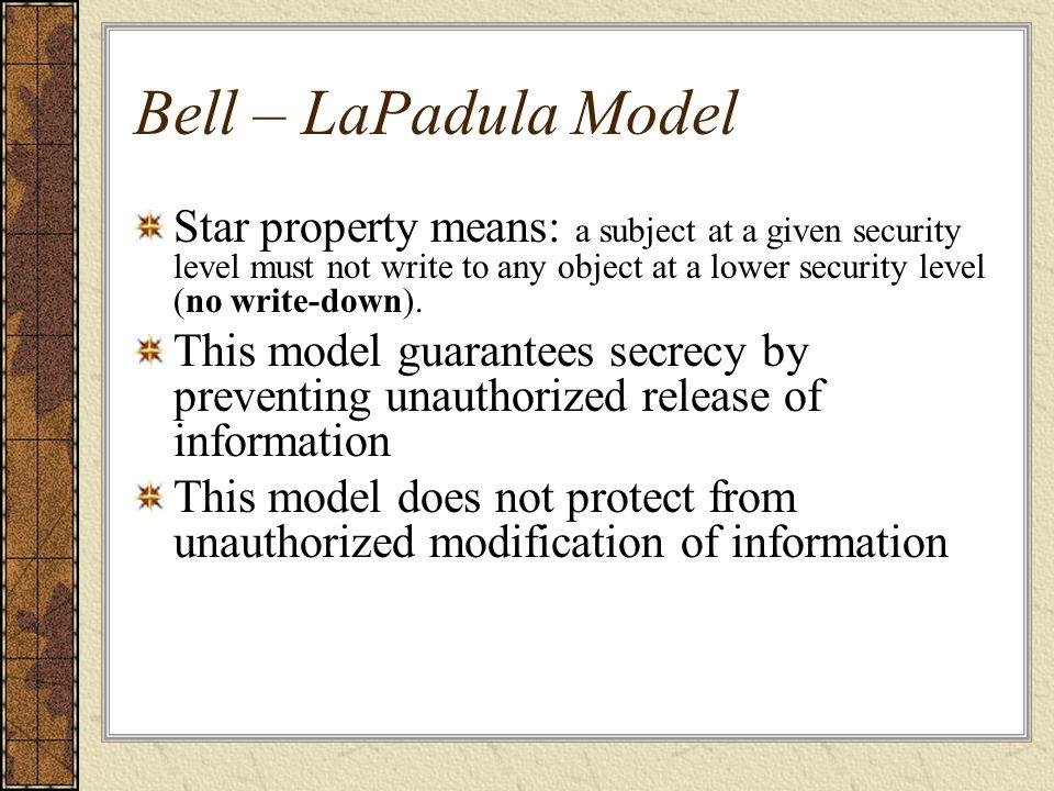 Bell – LaPadula Model