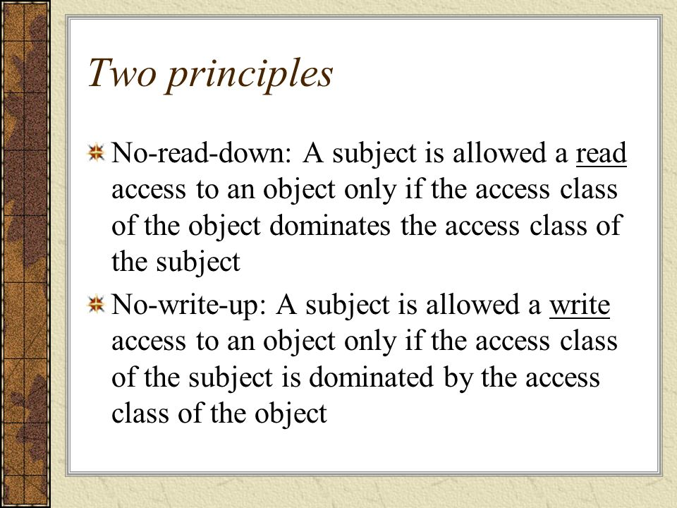 Two principles