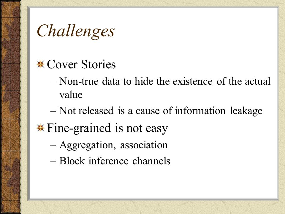 Challenges Cover Stories Fine-grained is not easy