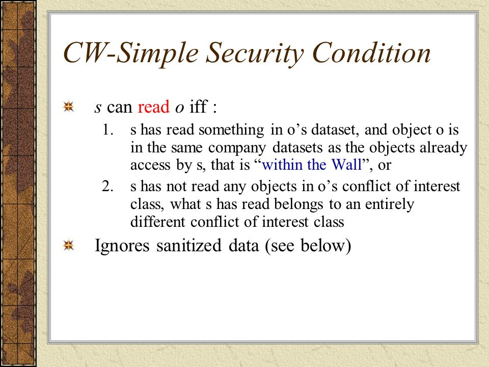 CW-Simple Security Condition