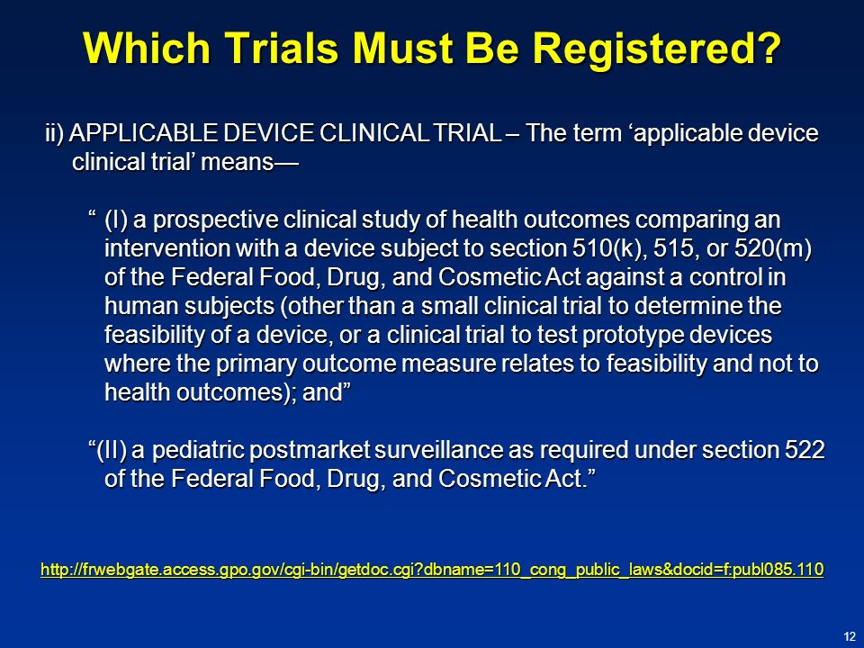 Which Trials Must Be Registered