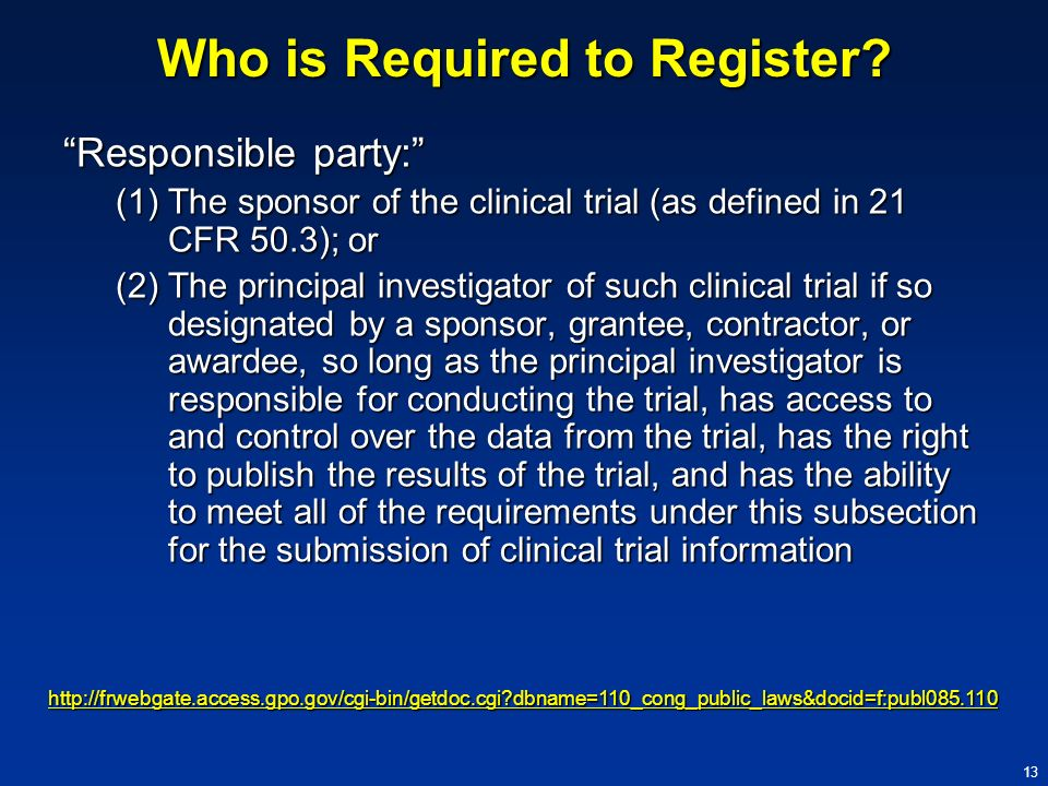 Who is Required to Register