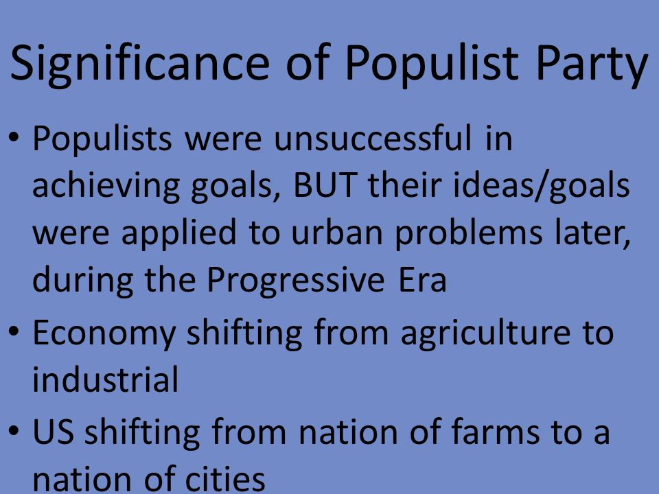 populist and progressive era