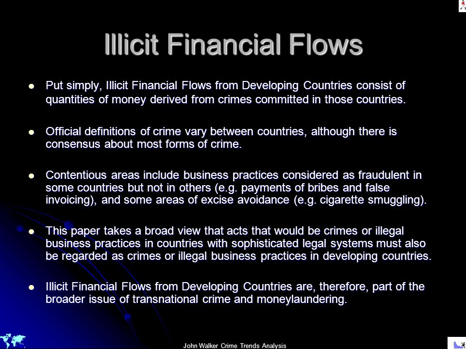 Illicit Financial Flows