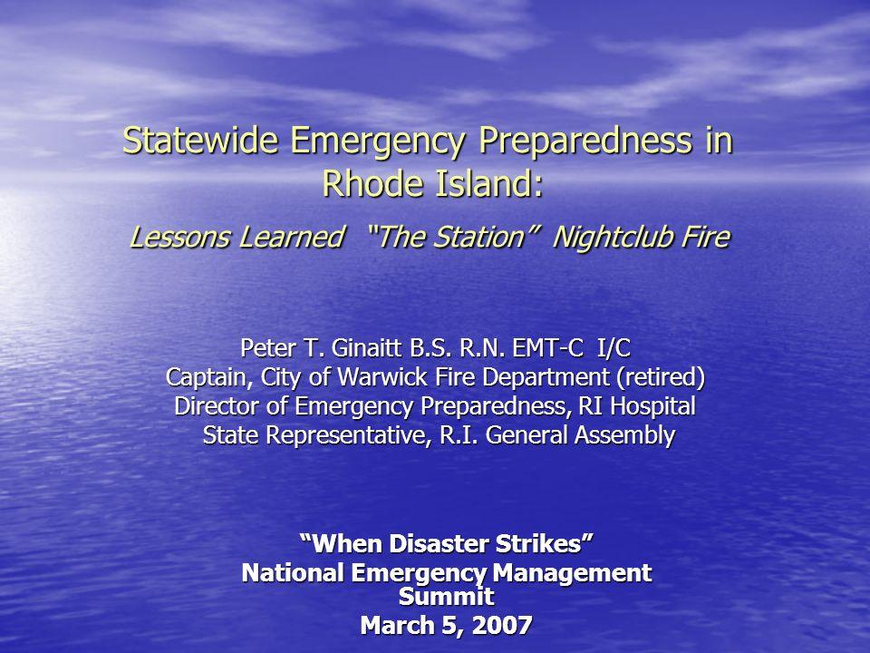 When Disaster Strikes National Emergency Management Summit