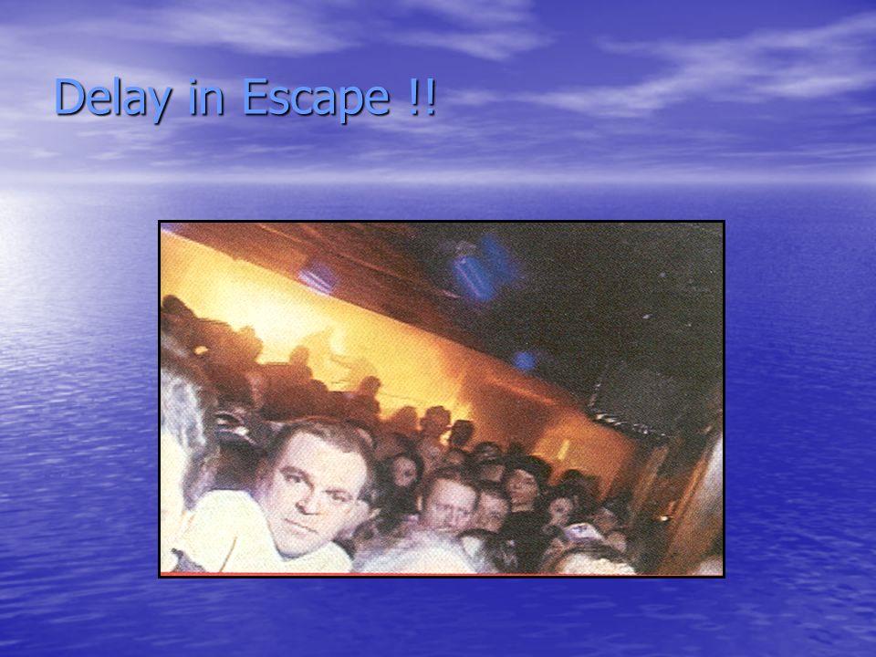Delay in Escape !!
