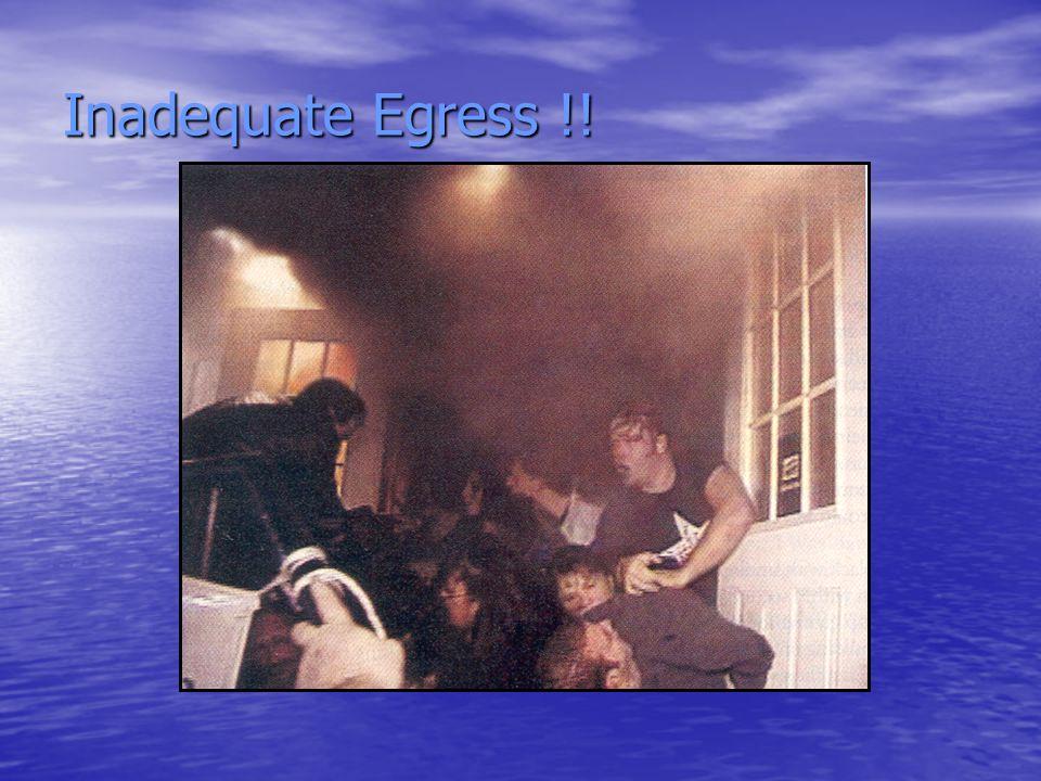 Inadequate Egress !!