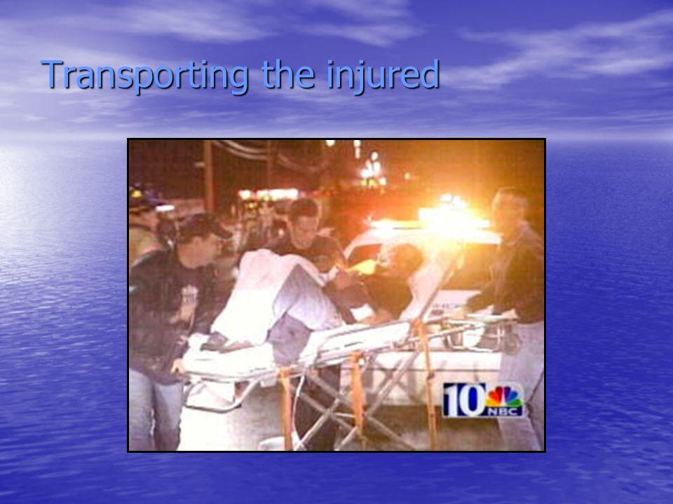 Transporting the injured