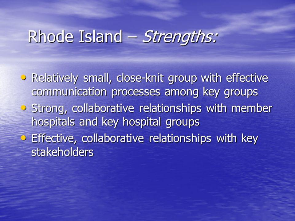 Rhode Island – Strengths: