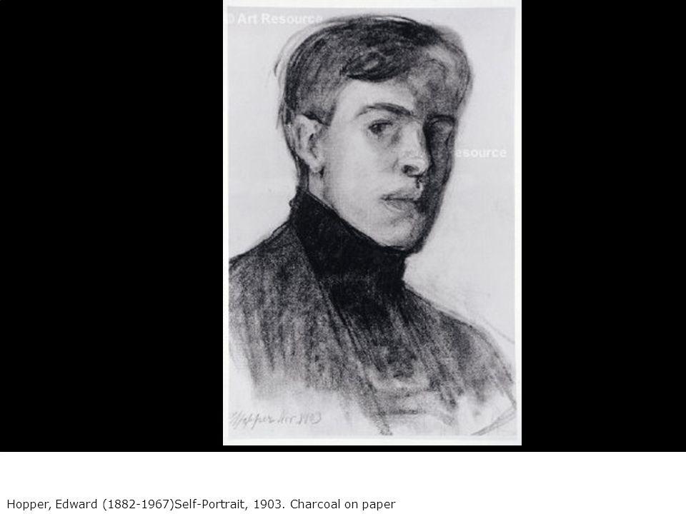 Hopper Edward  SelfPortrait Charcoal on paper  ppt download