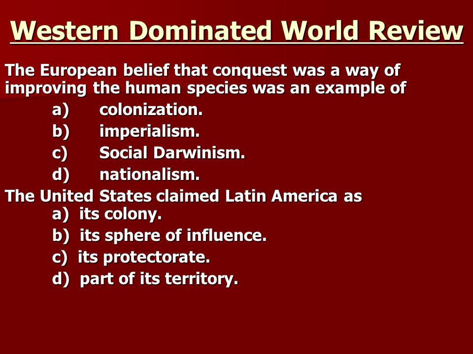 Western Dominated World Review