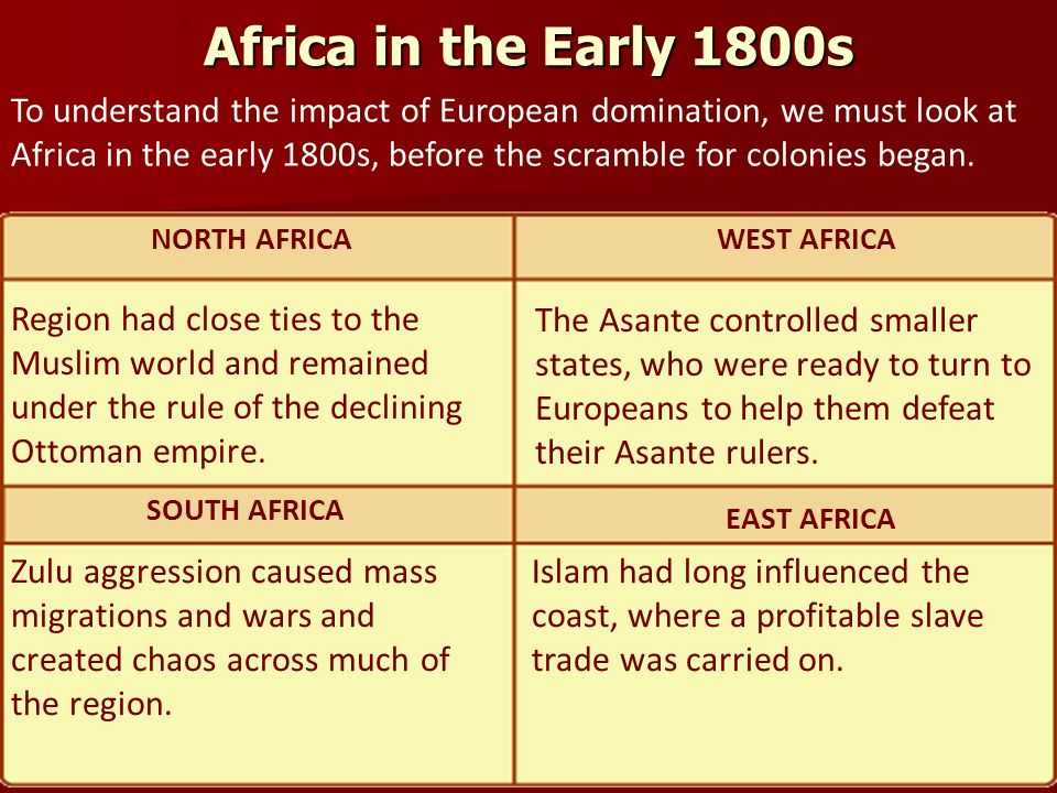 Africa in the Early 1800s 2.