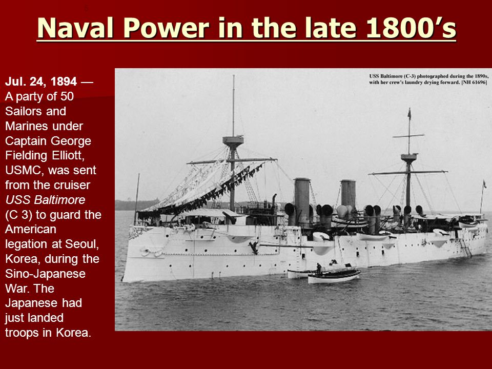Naval Power in the late 1800's