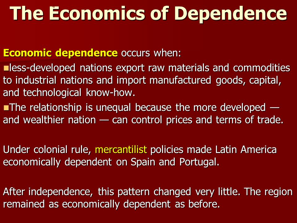 The Economics of Dependence