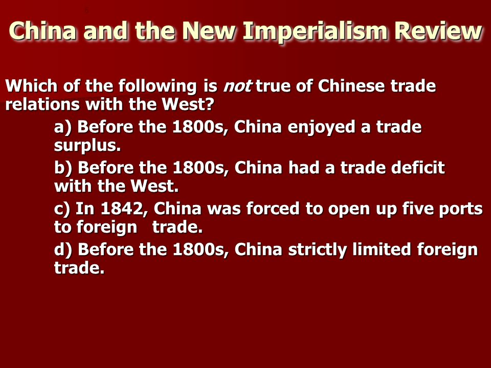 China and the New Imperialism Review