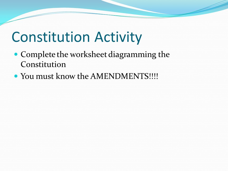 Chapter Two Forging a New Government The Constitution ppt download – Amending the Constitution Worksheet