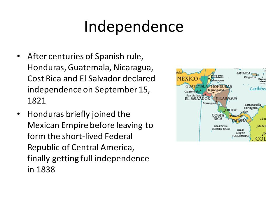 the causes of revolution in nicaragua el salvador guatemala and honduras (1823) honduras joined united provinces of central america, included costa rica, el salvador, guatemala, nicaragua (1839-1840) liberals of united provinces of central america under leader, francisco morazan, defeated in civil war led by rafael carrera confederation union dissolved.