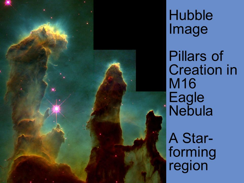 Hubble Image Pillars of Creation in M16 Eagle Nebula A Star-forming region