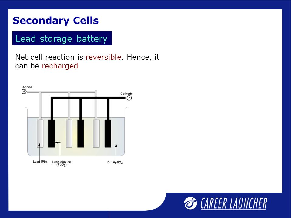 Secondary Cells Lead Storage Battery