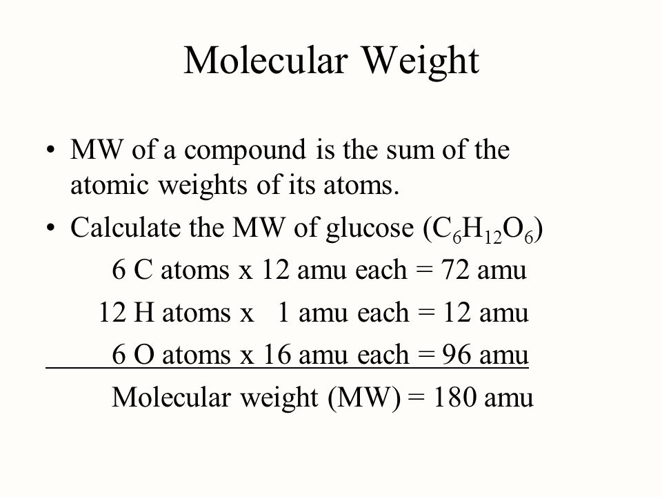 how to find molecular weight of a compound