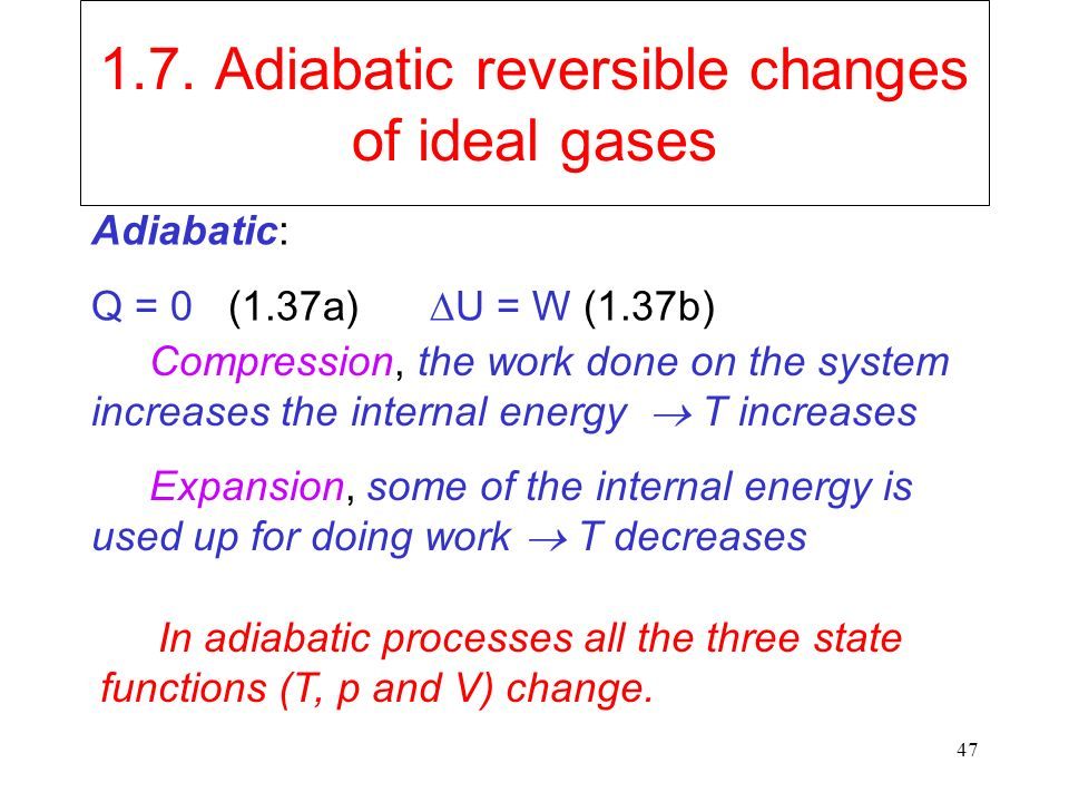 work done in adiabatic process derivation pdf