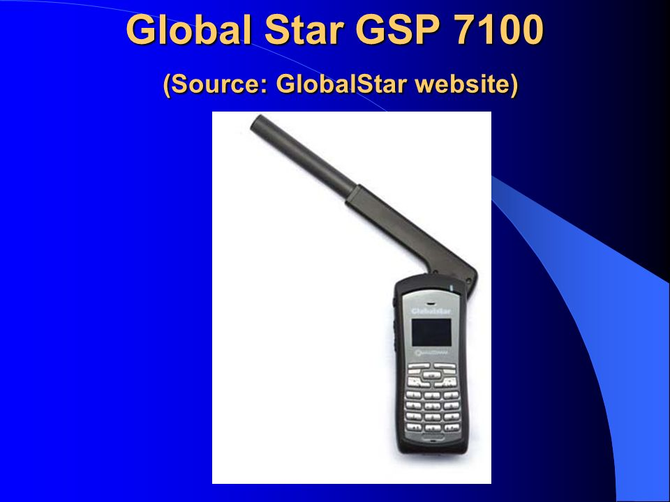 Global Star GSP 7100 (Source: GlobalStar website)