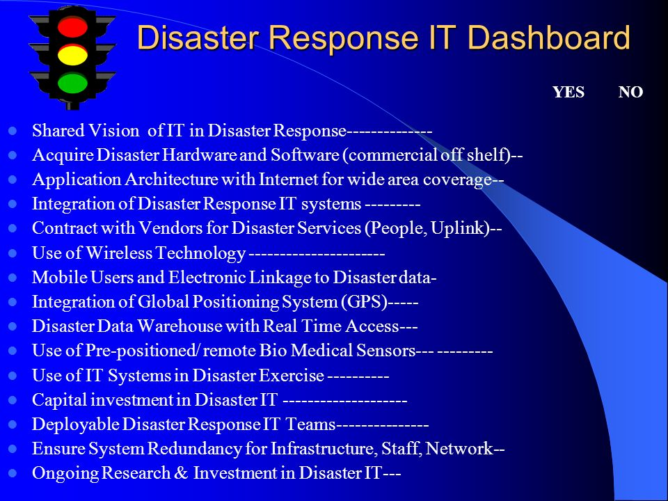 Disaster Response IT Dashboard