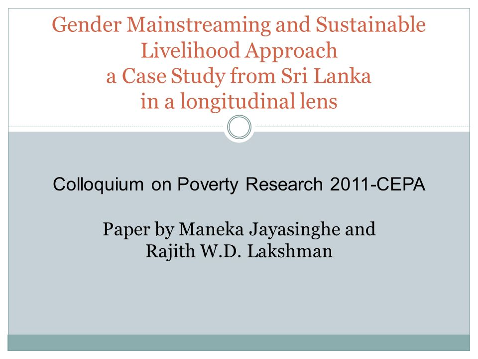 case study gender and schooling Unicef cfs case study: sri lanka, january 2009 education in sri lanka data show that despite high enrolment rates and prevailing gender parity, many children who.