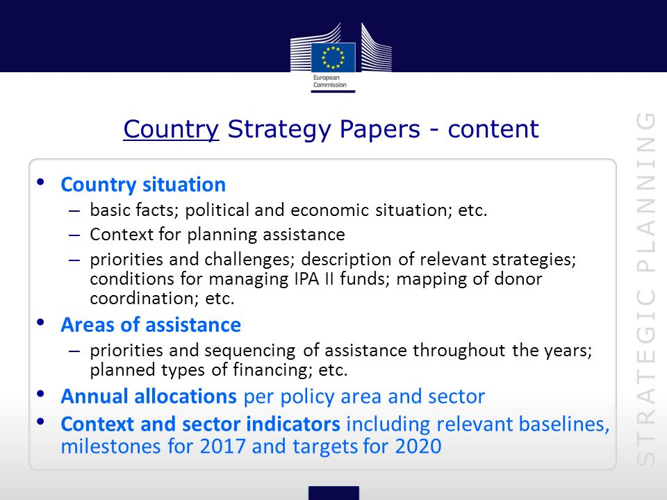 Country Strategy Papers - content