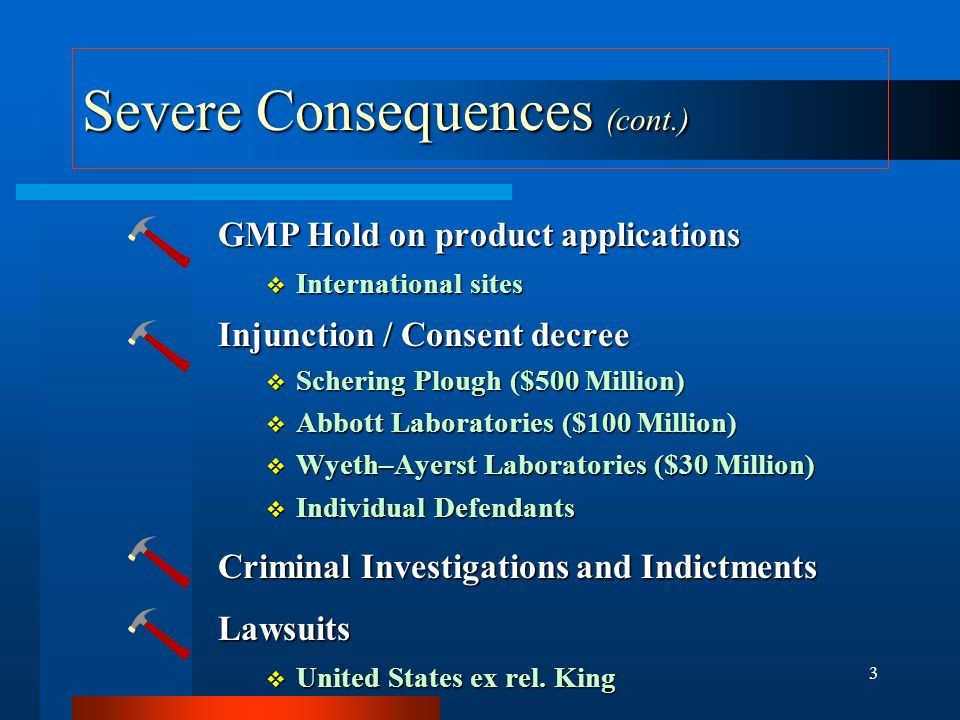 Severe Consequences (cont.)