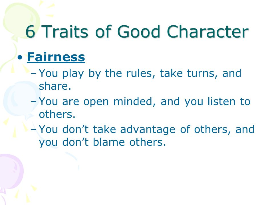 6 Traits of Good Character