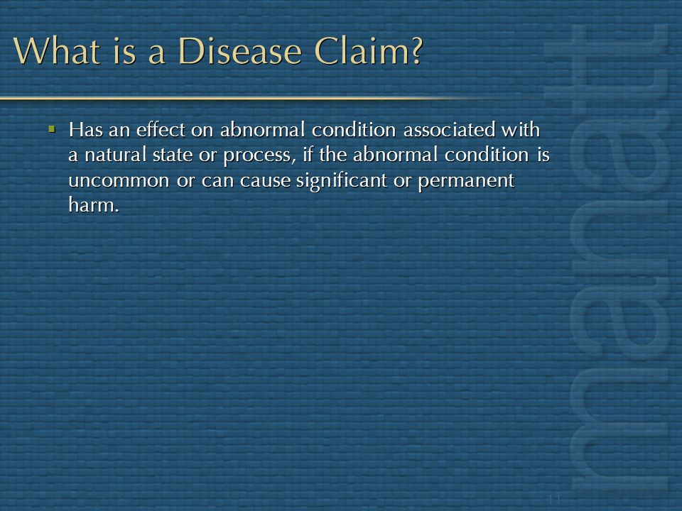 What is a Disease Claim
