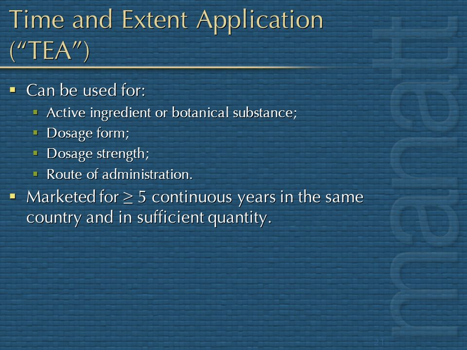 Time and Extent Application ( TEA )