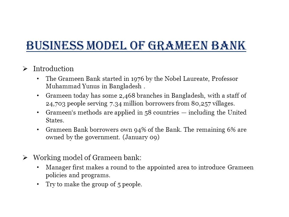 swot analysis of grameen bank of bangladesh Read this essay on swot analysis of grameenphone  again, in bangladesh, grameen bank is one of the largest ngo, which has the sound communication.