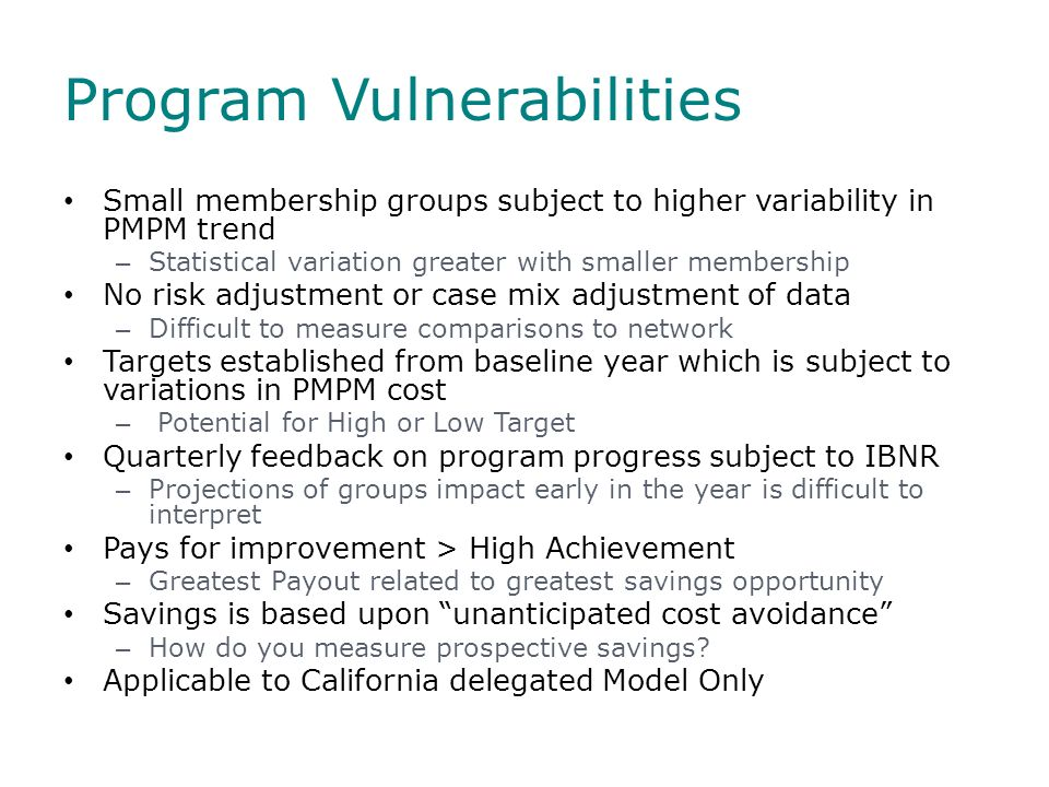 Program Vulnerabilities